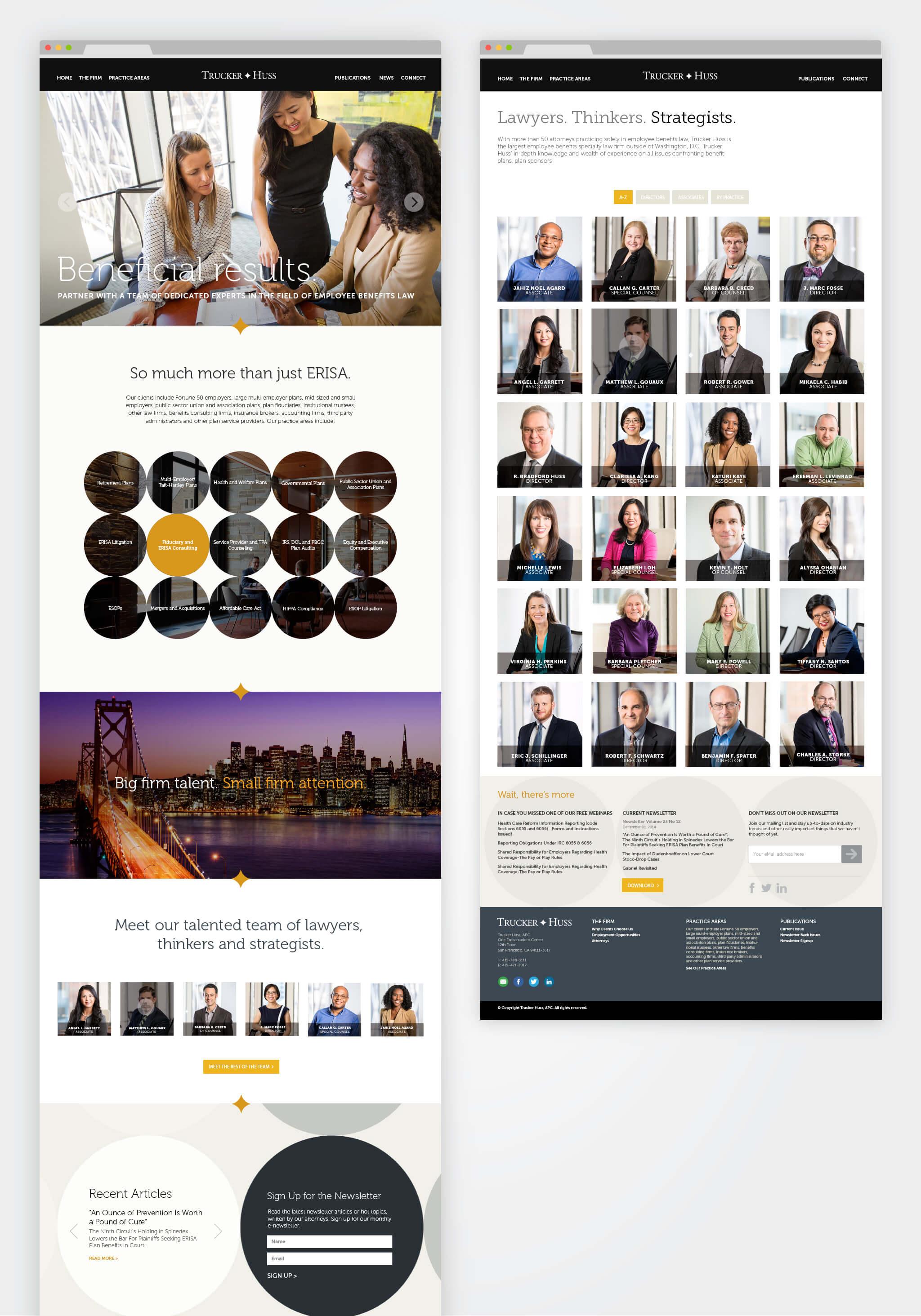 Trucker Huss Law Firm Website » designed by 405 GROUP